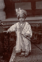 H.H. The Maharajah Kishen Singh, son of Ram Singh. Present ruler of Bharatpore State